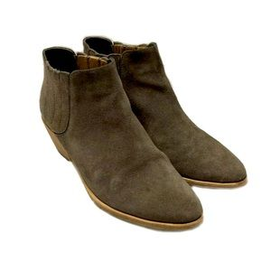 JOIE Barlow Brown Suede Ankle Boots Sz 8